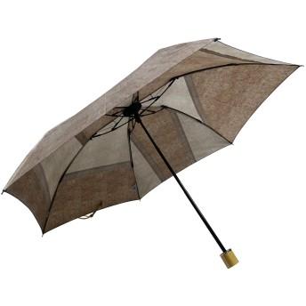 【オンワード】 +RING(プラスリング) 【限定/日本製】デニムプリント雨傘(折りたたみ)BGE SR231 ベージュ F 【送料無料】