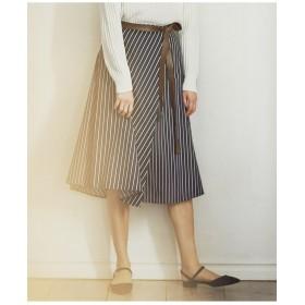 23区 【洗える】ALBIATEコットンサテン ラップスカート その他 スカート,ネイビー系1