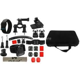 Perfk ポータブルバッグ  23インチ カメラマウント アクセサリキット GoPro Hero 4/3 +に対応 セット 耐久性 互換性