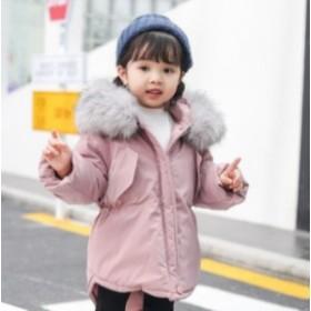 8427d617ce3e5 子供服 パーカー コート ロングコート ジャケット 冬用 アウター 女の子 キッズ 中綿コート 防寒 軽量