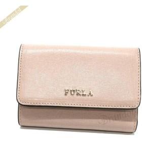 フルラ FURLA レディース 三つ折り財布 BABYLON バビロン トリフォード レザー ミニ財布 ベージュ系 PR76 B30 TUK / 992591
