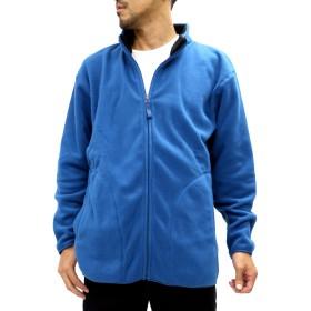 フリースジャケット - MARUKAWA 大きいサイズ メンズ フリース フル ジップ ジャケット【キングサイズ 2L 3L 4L 5L 6L シンプル 無地アウターブルゾン】
