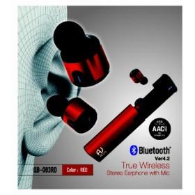 フルワイヤレスイヤホン Arvo レッド QB-083RD [リモコン・マイク対応 /ワイヤレス(左右分離) /Bluetooth]