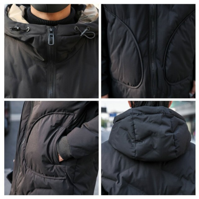 dd160e365d2 ハーフコート - BIG BANG FELLAS 中綿コート裏側がカモ柄 迷彩 ジップアップ フード