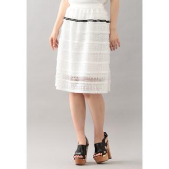 LOVELESS 【LOVELESS】フリンジケミカルレーススカート その他 スカート,ホワイト