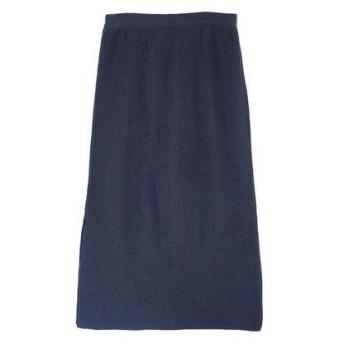 ユアーズ ur's ニットタイトスカート (ネイビー)