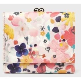 ポールスミス 財布 折財布 がま口 ペタルプリントアウトサイド  ピンク Paul Smith