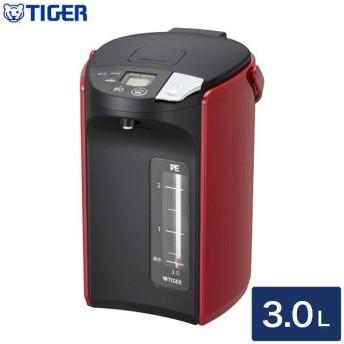 タイガー魔法瓶 蒸気レスVE電気まほうびん とく子さん 3.0L PIP-A300 R レッド