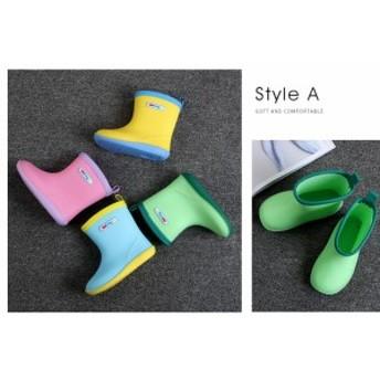サイドゴア ラグソール レインブーツ レインシューズ 子供 雨靴 かわいい ショート 全4色 サイドゴアブーツ 子供用