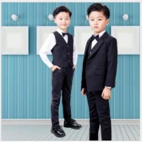 無地 5点セット★子供服スーツ 90~150★キッズスーツ 男児スーツ ジュニア 男の子スーツ フォーマル 七五三 ピアノ