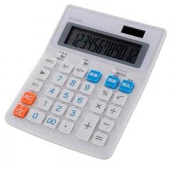 税率切り替え電卓 大型サイズ_KCL-400-W 07-9908