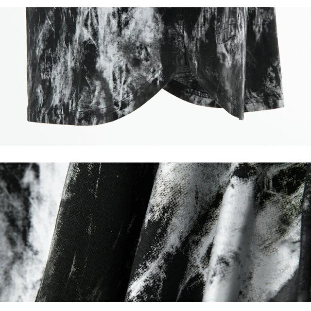 Tシャツ - SILVER BULLET 長袖 tシャツ メンズ Bernings Sho【バーニングスショー】汚しプリントクルーネック長袖Tシャツ/全2色ロンT Tシャツ長袖 長袖Tシャツ クルーネック メンズ ファッション 服 ヴィジュアル系 V系 レディース