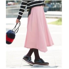 スカート ひざ丈 大きいサイズ レディース イレギュラーヘムフレアー 共布 ベルト 付  L〜10L ニッセン
