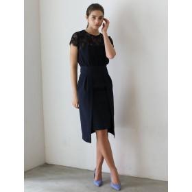 [LAGUNAMOON]LADY レイヤードレースタイトドレス