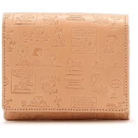 ロイヤルフラッシュ PEANUTS /スヌーピー コミック柄 革製 二つ折り財布 メンズ BEIGE 00 【RoyalFlash】