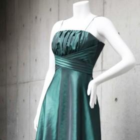 演奏会・発表会に / 楽器の邪魔にならないスッキリデザインきれいなお姉さんドレス(グリーン) 1-0186-4