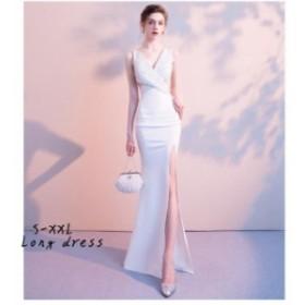 マーメイドドレス ウエディングドレス 花嫁 結婚式 ブライダルドレス 二次会 パーティードレス 披露宴 ロングドレス セクシーワンピース