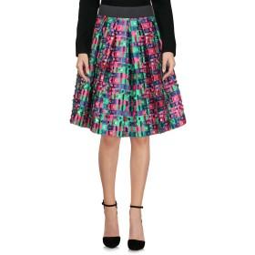 《セール開催中》DOLCE & GABBANA レディース ひざ丈スカート グリーン 36 ポリエステル 72% / シルク 28%