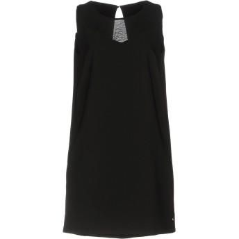 《セール開催中》MET JEANS レディース ミニワンピース&ドレス ブラック S 89% ポリエステル 11% ポリウレタン