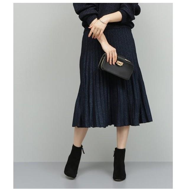 ROPE' / ロペ 【セットアップ対応】ラメニットプリーツスカート