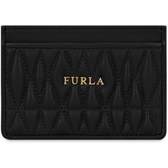 《期間限定セール開催中!》FURLA レディース ドキュメントホルダー ブラック 革 100% FURLA COMETA S CREDIT C.CASE
