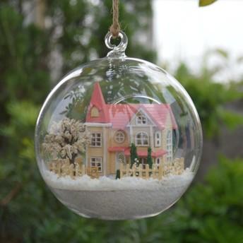 ミニチュアドールハウスキット ガラスボール 雪ハウス(2)