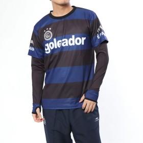 ゴレアドール goleador サッカー/フットサル レイヤードシャツ フェイクレイヤード 昇華ボーダープラクティスシャツ G-2200