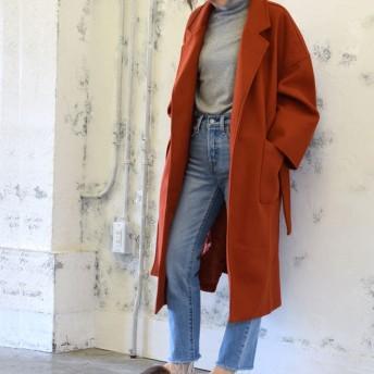 チュクラ chuclla オーバーサイズコート ロングコート (オレンジブラウン)
