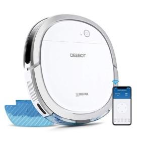 ECOVACS DEEBOT OZMO Slim11 床拭きロボット掃除機 超薄型 水拭き対応 モップ付け 自動拭き掃除 Alexa対応 ス