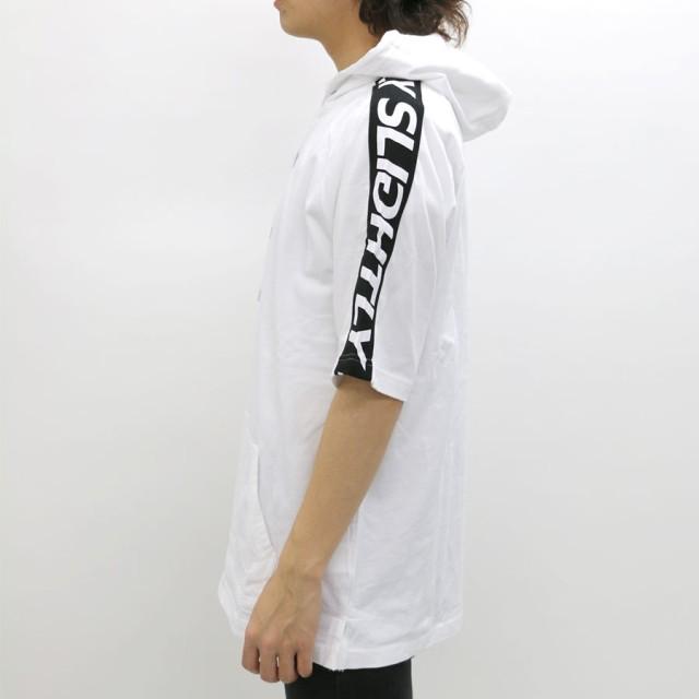 Tシャツ - MARUKAWA B ONE SOUL Tシャツ メンズ 夏 袖 ライン ロゴ 半袖 パーカー ビッグシルエット ホワイト/ブラックM/L【ティーシャツ パーカー Tパーカー ティーパーカー 刺繍 プリント ストリート アメカジ 】