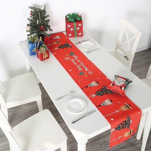 時尚可愛空間餐桌布 茶几布 隔熱墊 鍋墊 杯墊 餐桌巾桌旗 592 (30*160cm)