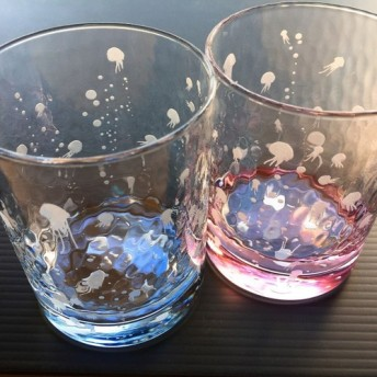 海月ゆらりグラス