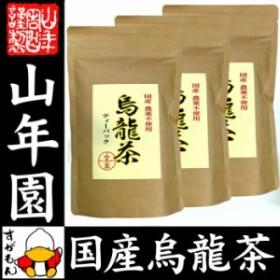 【国産 無農薬 100%】烏龍茶 ウーロン茶 ティーパック 2.5g×24パック×3袋セット 無添加 送料無料 大分県産 ティーバッグ 国産 送料無料