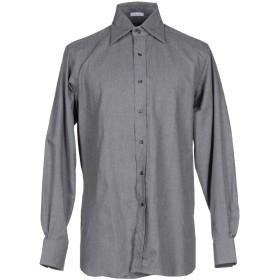《期間限定 セール開催中》ASHWOOD & BLAKE メンズ シャツ 鉛色 39 コットン 100%