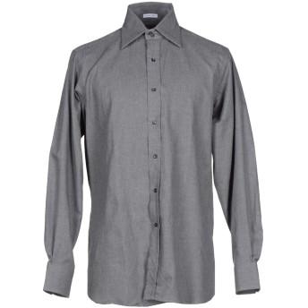 《9/20まで! 限定セール開催中》ASHWOOD & BLAKE メンズ シャツ 鉛色 39 コットン 100%