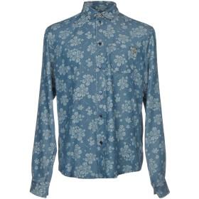 《期間限定セール開催中!》VERSACE JEANS メンズ デニムシャツ ブルー 44 テンセル 100%