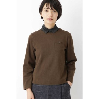 HUMAN WOMAN / ≪Japan couture≫ウールジャージー衿取り外しブラウス