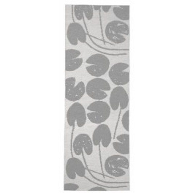 FINE LITTLE DAY | WATER LILIES PLASTIC RUG - GREY | ラグマット (70x150cm)