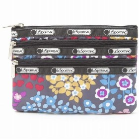 「P10%還元 10/14 20時〜 14h」 レスポートサック ポーチ LeSportsac 7158 D258 3 ZIP COSMETIC SUGARLAND FLORAL