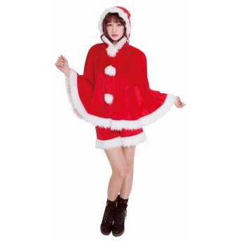 クリスマス コスプレ ホットココア サンタ クリアストーン コスチューム 衣装 レディース