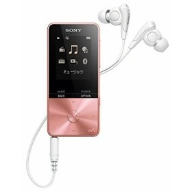 ソニー SONY ウォークマン Sシリーズ 4GB NW-S313 : Bluetooth対応 最大52時間連続再生 イヤホン付属 2017年モデル ライトピンク NW-S313