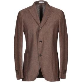 《セール開催中》BOGLIOLI メンズ テーラードジャケット ブラウン 48 シルク 51% / 麻 49%