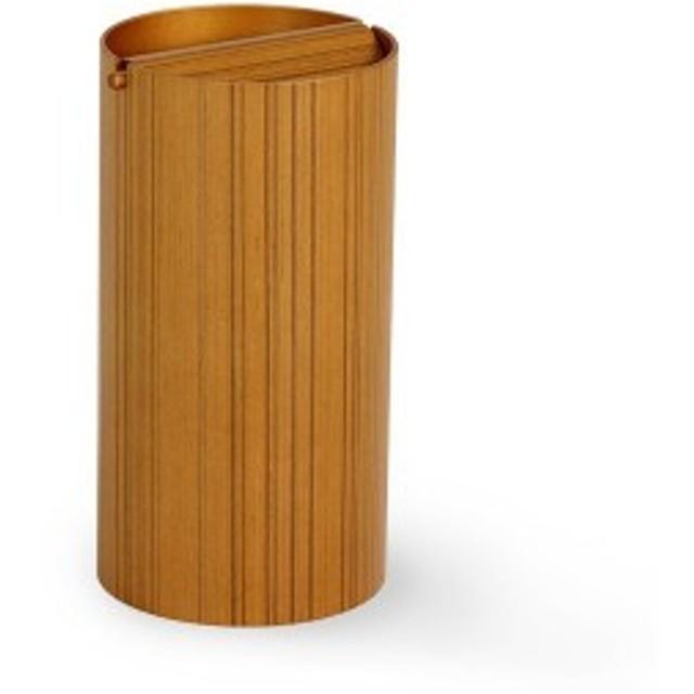 ふた付きゴミ箱 ダストボックス 木製 おしゃれ ゴミ箱 SAITO WOOD 970A 回転蓋 チーク