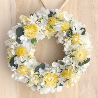 アカシア リース M リースボックス付 プリザーブドフラワー ウェディング プレゼント 結婚祝い 誕生日