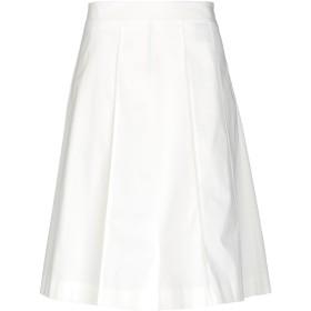 《期間限定セール開催中!》QL2 QUELLEDUE レディース ひざ丈スカート ホワイト 44 コットン 98% / ポリウレタン 2%
