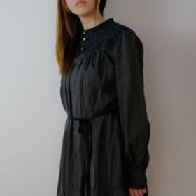 the last flower of the afternoon   梢の影 work dress (black)   ワンピース【ザラストフラワーオブジアフタ