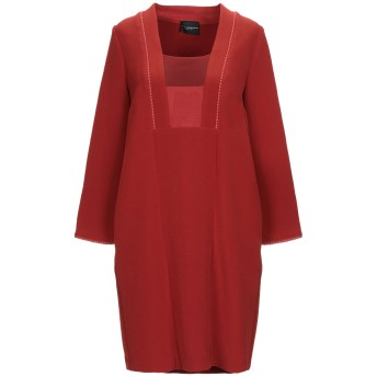 《セール開催中》ATOS LOMBARDINI レディース ミニワンピース&ドレス 赤茶色 40 ポリエステル 94% / ポリウレタン 6%