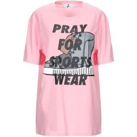 《期間限定セール開催中!》PRAY レディース T シャツ ピンク M コットン 100% / ポリウレタン