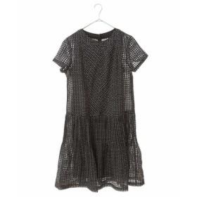 HIROKO BIS GRANDE / 【洗える】ヘリンボンチェックプリントドレス
