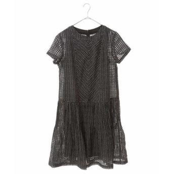 HIROKO BIS GRANDE ヒロコビス グランデ / 【洗える】ヘリンボンチェックプリントドレス